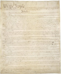 U.S. Constitution - Courtesy National Archives