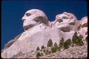 Mount Rushmore: George Washington, Thomas Jefferson