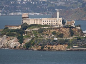"Alcatraz, the ""Rock."" Coutesy National Park Service."