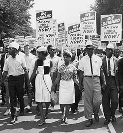 March on Washington for Jobs and Freedom, August 1963. Abbie Rowe. Courtesy NPS.