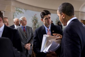 President Obama, Paul Ryan during 2010 health care reform meeting.