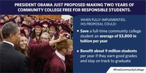 President Obama's free community college proposal. Someone still has to pay.