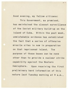 Cuban Missile Crisis speech: how to lead the world