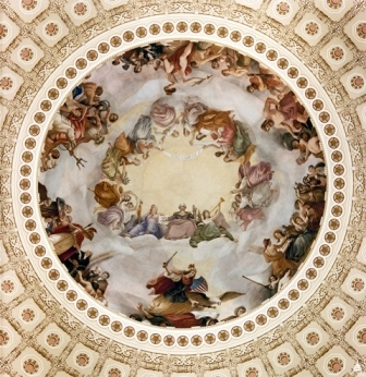 The Apotheosis of Washington. Architect of the Capitol.
