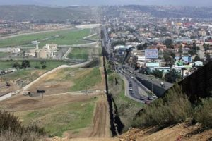 Border with Mexico. Courtesy CBP.