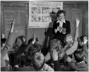 Before angry school teachers wore red shirts. Courtesy National Archives.