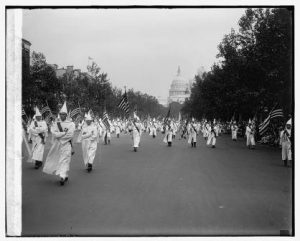 Racist? How Democrats see you. Ku Klux Klan, Courtesy Library of Congress.