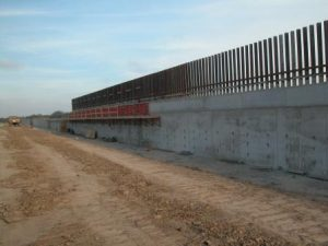 No snipers, just a simple wall Courtesy CBP