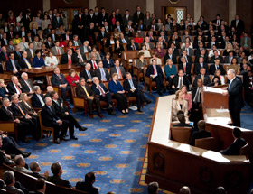 Netanyahu addresses Congress. Future of conservatism is here? Courtesy House Office of Photography.