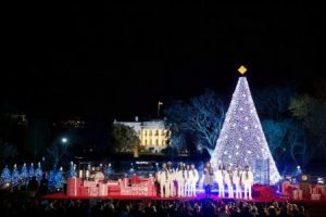 National Christmas tree lighting. Official White House photo by Lawrence Jackson.