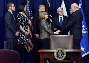 Kicking out Democrats? John Kelly sworn in as DHS Secretary. Courtesy Homeland Security.