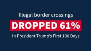 Border crossings down, cost to taxpayers is worth it. Courtesy Whitehouse.gov.