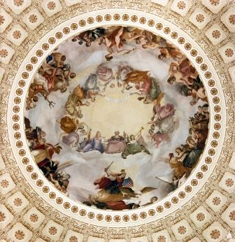Apotheosis of Washington. Architect of the Capitol.