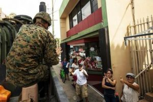 Amazing things we learned include relief effort in Puerto Rico.  Marine Corps photo by Lance Cpl. Tojyea G. Matally.