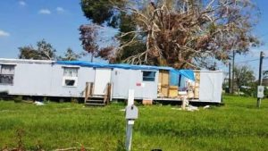 Trailer in Florida.  Courtesy HUD.