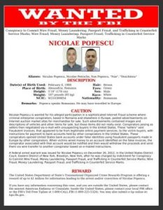Wanted for Internet scam using U.S. banks from abroad. Courtesy FBI.