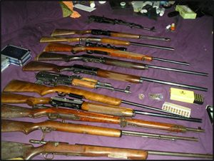ATF gun seizure. Courtesy DOJ/ATF.