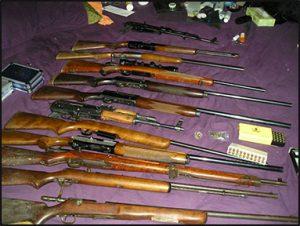 ATF gun seizure. Courtesy DOJ/ATF.
