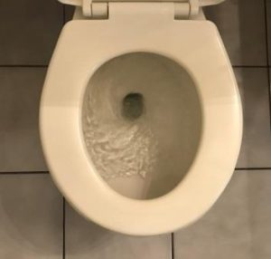 Swirling toilet