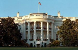 Picture of White House as the sun sets. WH photo by Susan Sterner.