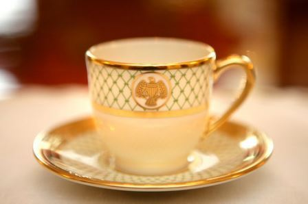 White House china cup: symbol of civility