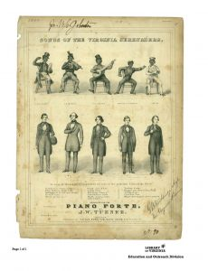 Minstrel show poster. Courtesy Library of Virginia.
