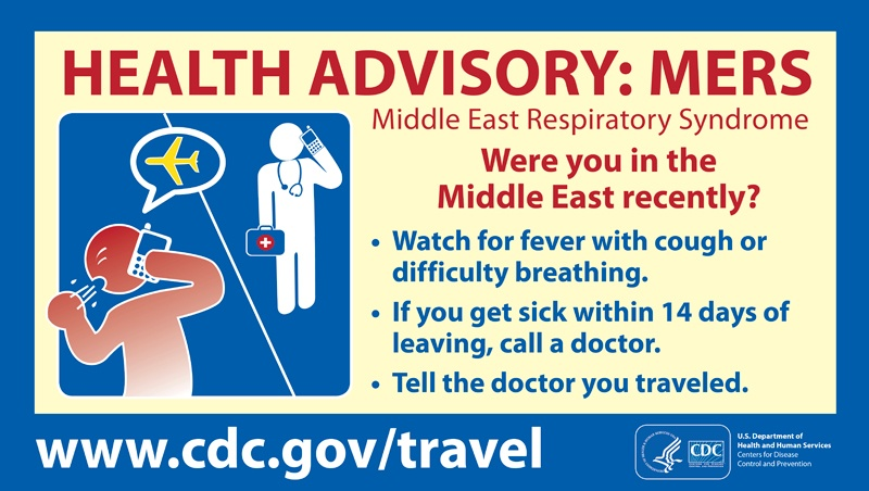 MERS health advisory from CDC