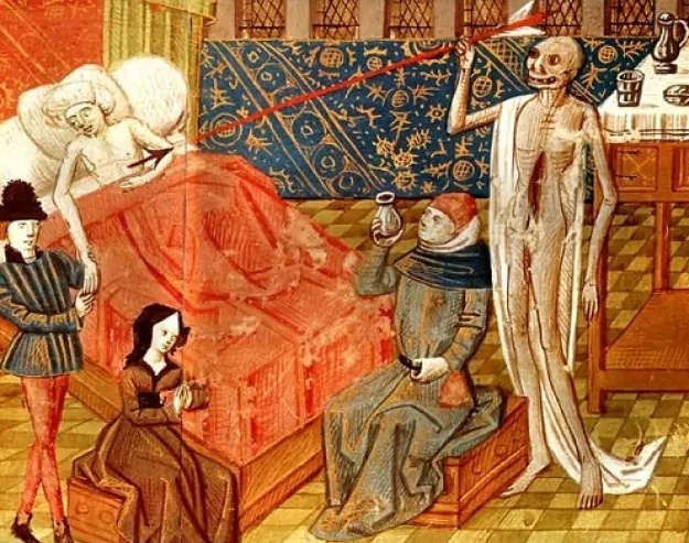 Image of 15th Century Black Death painting