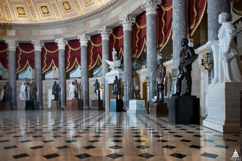National Statuary Hall, House of Representatives. Architect of the Capitol.
