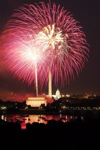 Fireworks on the National Mall. NPS Photo