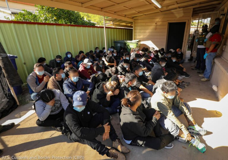 Human smuggling victims at a stash house in Laredo, Texas. U.S. Customs and Border Protection photo.